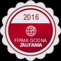 Firma Godna Zaufania - Certyfikat 2016